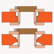 Interierove dvere obklad ocelovej zarubne