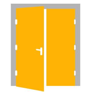 Dvojkrídlové dvere - ĽAVÉ