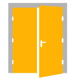Dvojkrídlové dvere - PRAVÉ