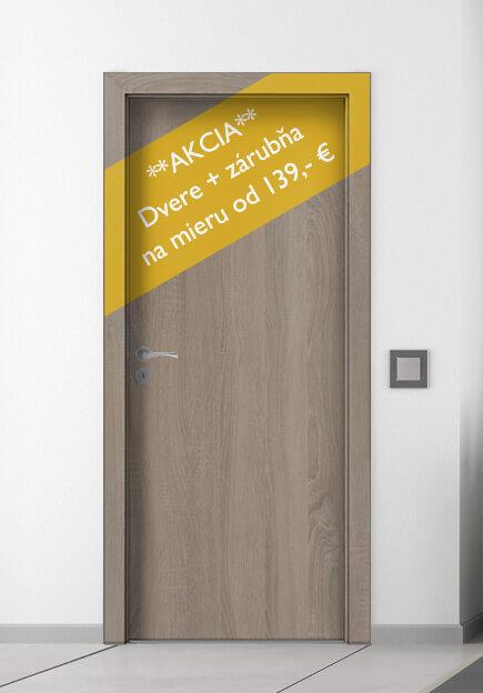 9531b7490 Interiérové dvere a zárubne Vám vo všetkých druhoch laminátov ponúkame za  akciovú cenu 139€. Cena platí aj pre dvere, ktoré prídeme pred výrobou  osobne ...